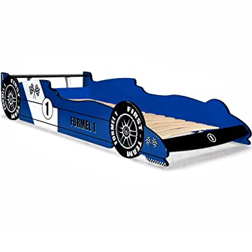 Kinderbett auto blau  Deuba Kinderbett Autobett Rennbett Spielbett Kindermöbel Bett F1 ...