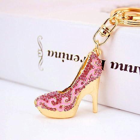 Yunfeng Lindo Llavero Zapatos de Mujer Tacones Coche Llavero ...