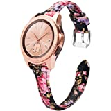 Wearlizer Compatible with Samsung Galaxy Watch Band 42mm 46mm/Galaxy Active 2 Bands 42mm Womens Mens,Genuine Leather…