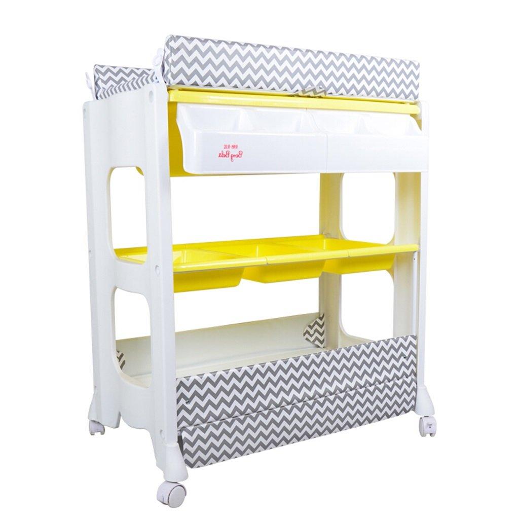 美しい ALUP- いえろ゜ イエロー ベビーチェンジングテーブル/多機能プラスチック看護デスクベビータッチマッサージベッドシャワースタンド仕上げテーブル0~2歳の赤ちゃんパープル B07N4GSMYW/レッド/グレー/イエローの4色に適して仕上げオプション重量30キロ (色 : イエロー いえろ゜) イエロー いえろ゜ B07N4GSMYW, 富士販:52cfe9c4 --- a0267596.xsph.ru