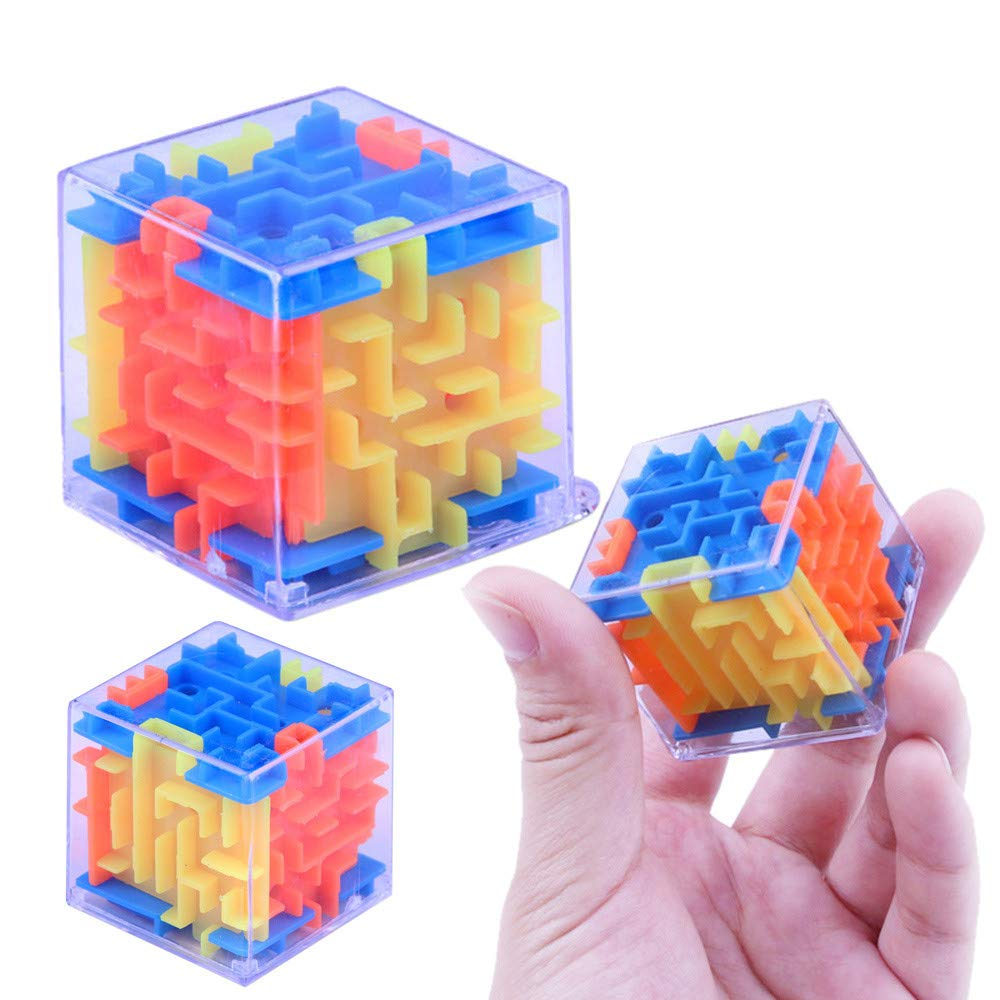 Wenini 3D Cube Puzzle Toy - New 3D Cube Puzzle Maze Toy Hand Game Case Box Fun Brain Game Challenge Fidget Toys (Multicolor) by Wenini (Image #2)