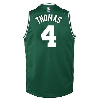 ... official store isiah thomas boston celtics nba nike youth green road swingman  jersey youth small 8 ... 74ae1ef1d
