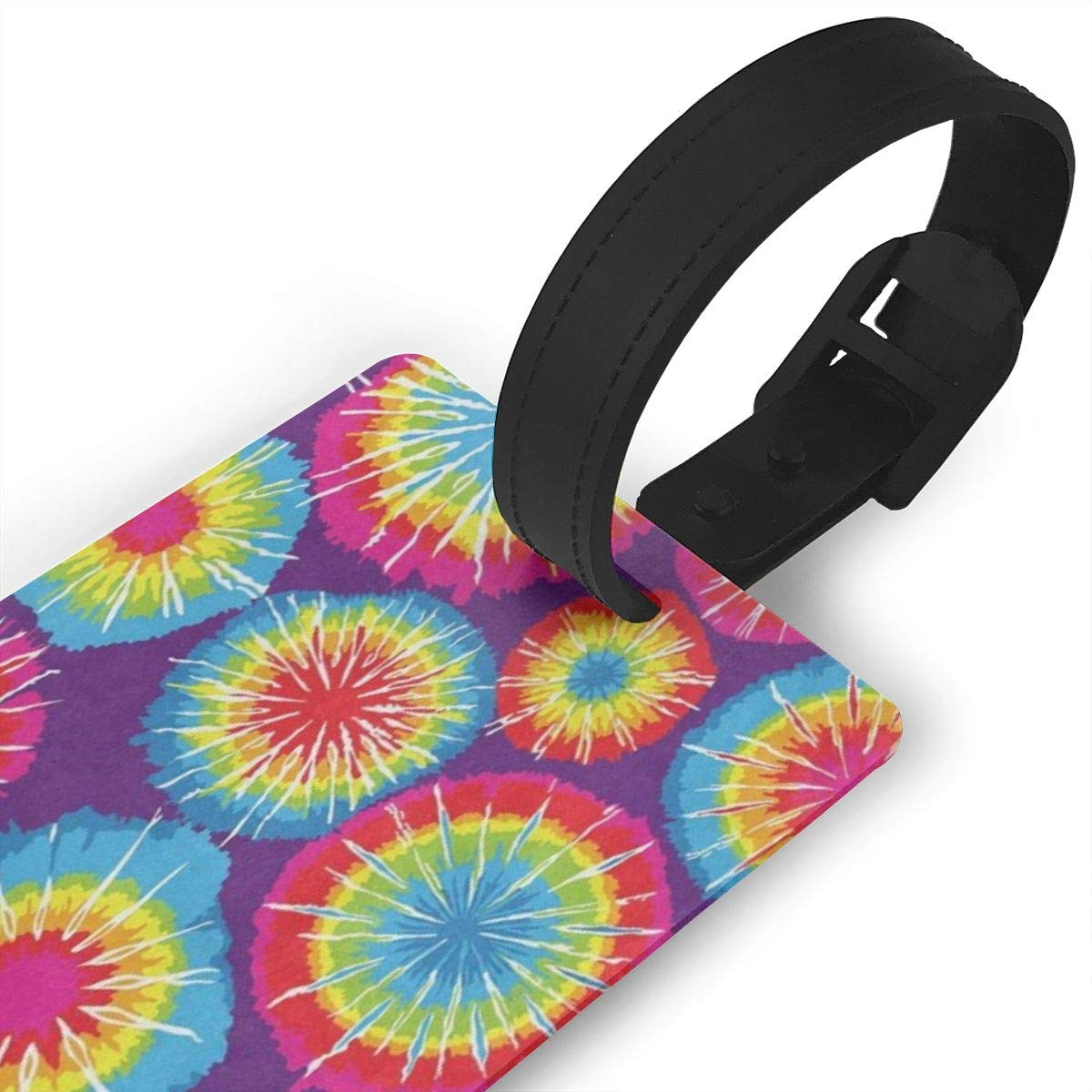 Luggage Tags Tie Dyed Bag Tag for Travel 2 PCS