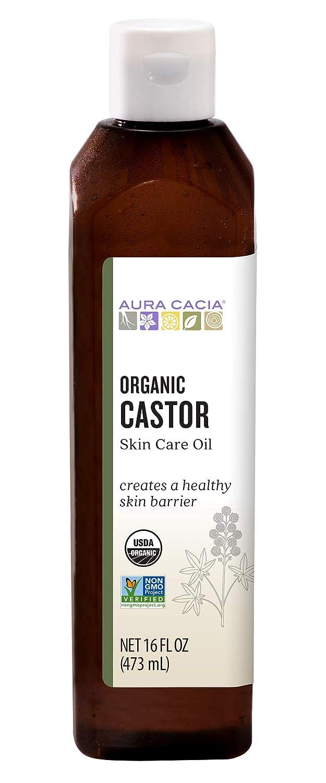 Aura Cacia Certified Organic Castor Oil Skin Care Oil | 16 fl. oz.