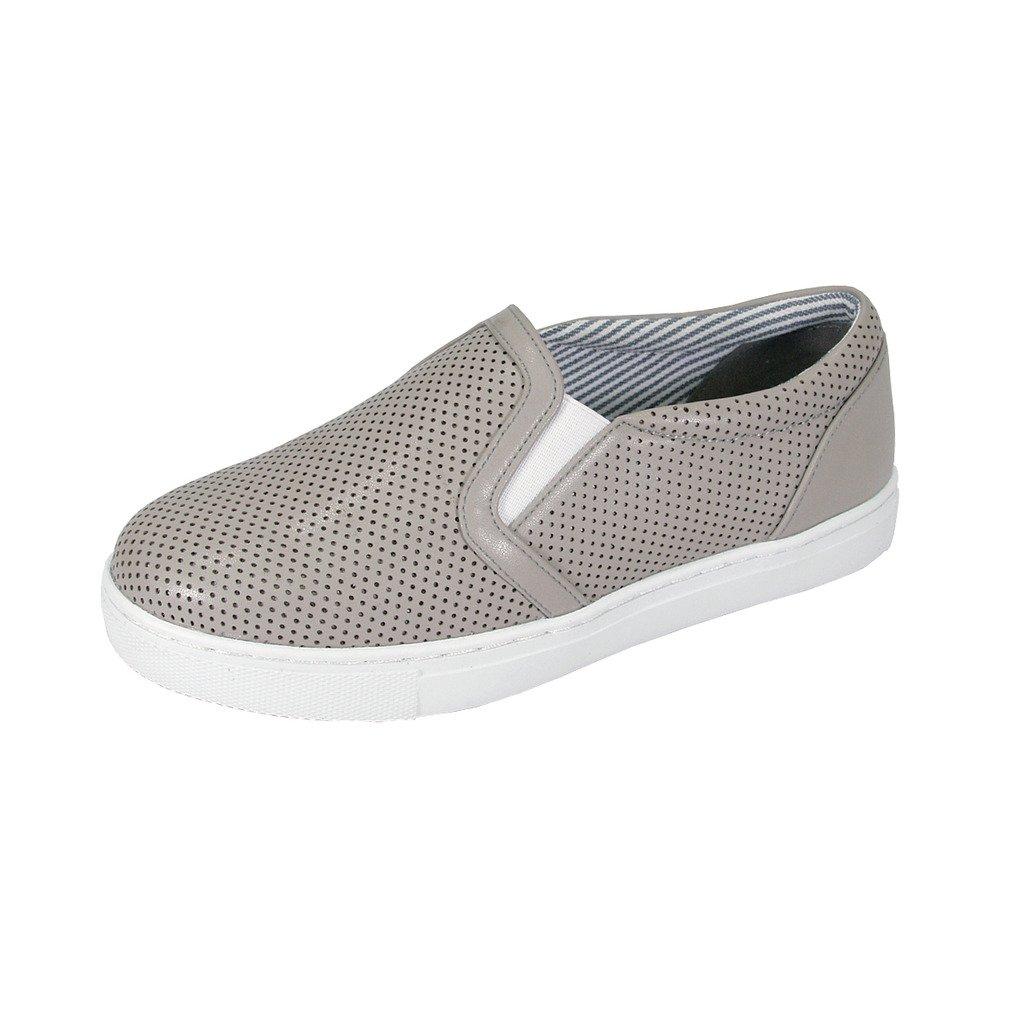 Fuzzy FIC Mila Women's Wide Width Comfort Loafer Khaki 8