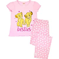 Lion King Disney Besties Simba & Nala Cubs Girl's Pink Long Pyjamas