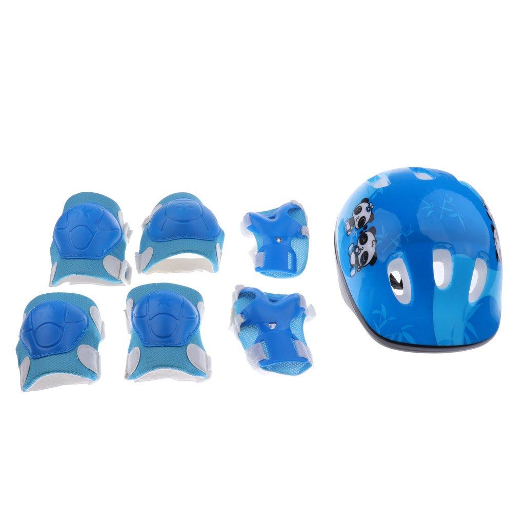 Sharplace Kit de Protection avec 1pc Casque Protection de Vélo Skate Rollers Patin à roulettes + 2pcs Genouillères,Coudières,Garde Poignets