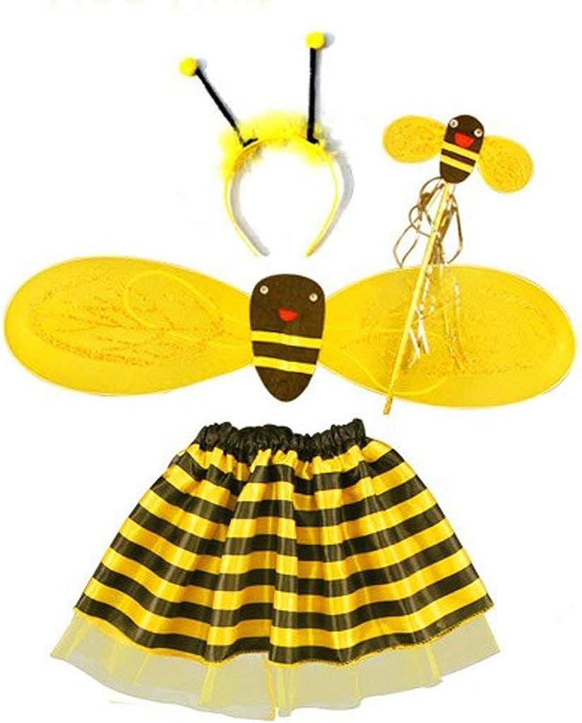 KODORIA - Disfraz de Abeja con Diadema de alas y Falda de Varita ...