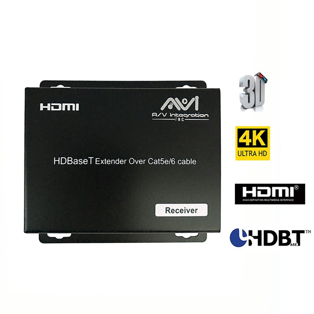AVI HDBaseT HDMI 2.0 HDCP 2.2 4K 4X4 HDMI Matrix Extender Switcher With 4 POE Receivers Over Single Cat5e/6 Cable Supports Ultra HD 3D 60HZ @ 4Kx2K with Bi-directional IR (Matrix+4receivers) by AVI (Image #5)