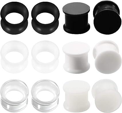 Quality Silicone Ear Plug Flesh Tunnel Stretcher Tunnels Expander 3-25mm