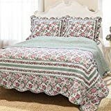Rose Bush Quilt Set (Queen Size)