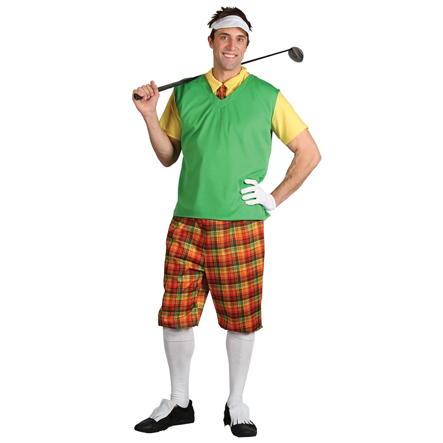 funny guy golfer adults pub golf fancy dress costume men men large amazoncouk clothing - Golfer Halloween Costume