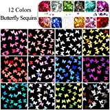 2 Packs Nail Sequin Nail Glitter Sequins Mixed