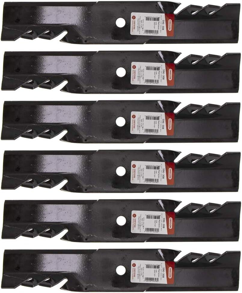 6PK Oregon 596-308 G5 Gator Mulching Blades for Scag 48110 481706 482877