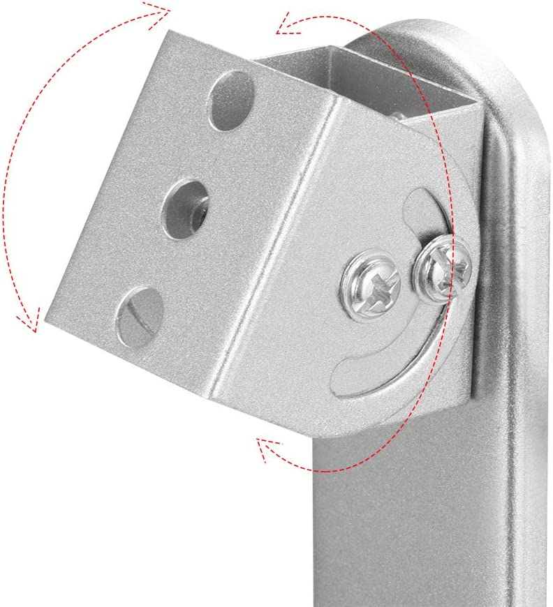 uxcell CCTV Camera Mount Iron Indoor//Outdoor Camera Mounting Brackets 165mm Height Silver Tone