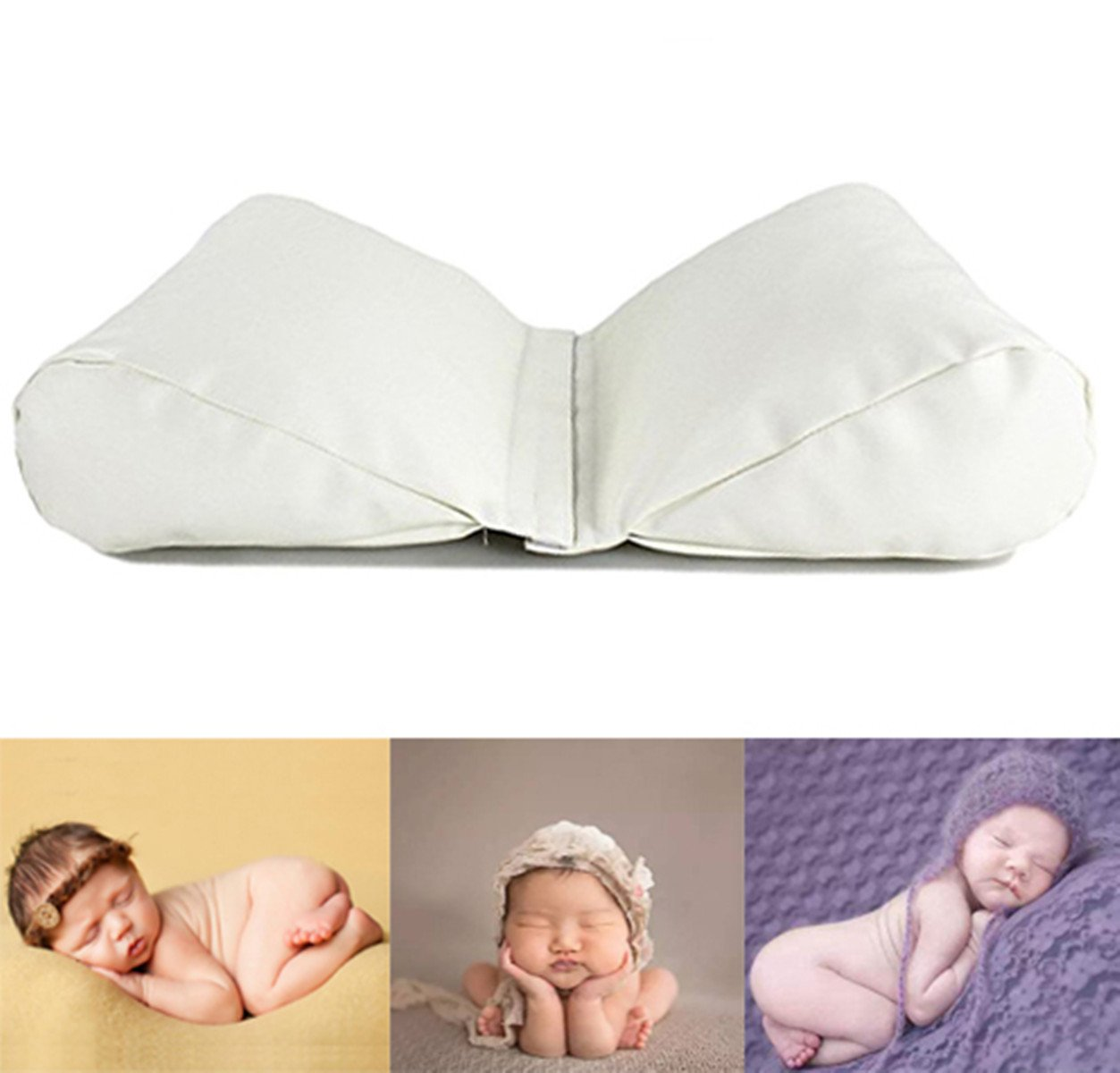 M& G House Newborn Photography Butterfly Posing Pillow Basket Filler Wheat Baby Photo Prop 2 PC White mg