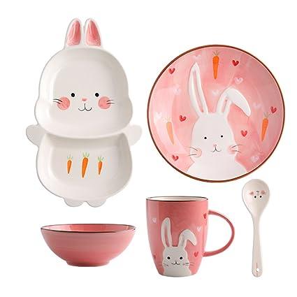 Piatti In Ceramica Per Bambini.Set Di Posate Per Bambini In Ceramica Ciotole Per Neonati E