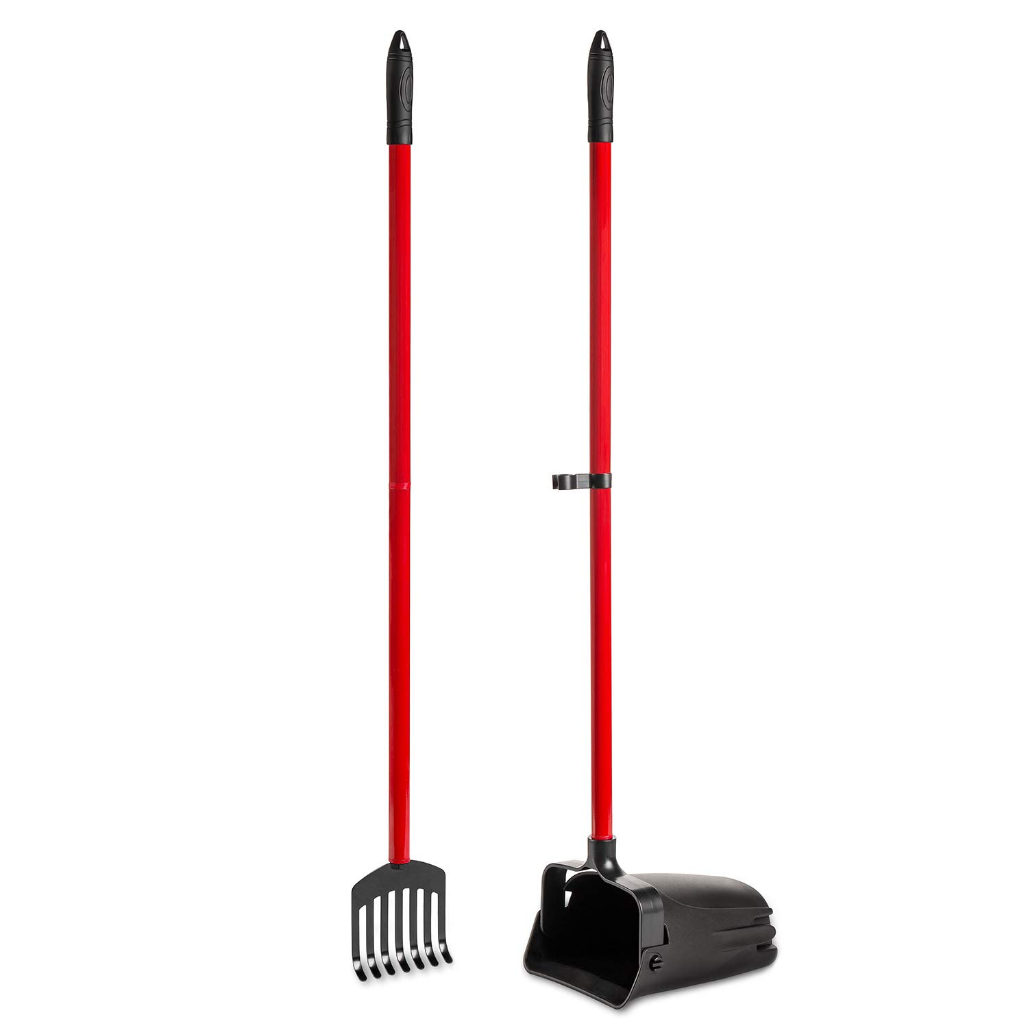 Pikaon Heavy Duty Scooper with Swivel Bin and Metal Rake for Pet Waste by Pikaon