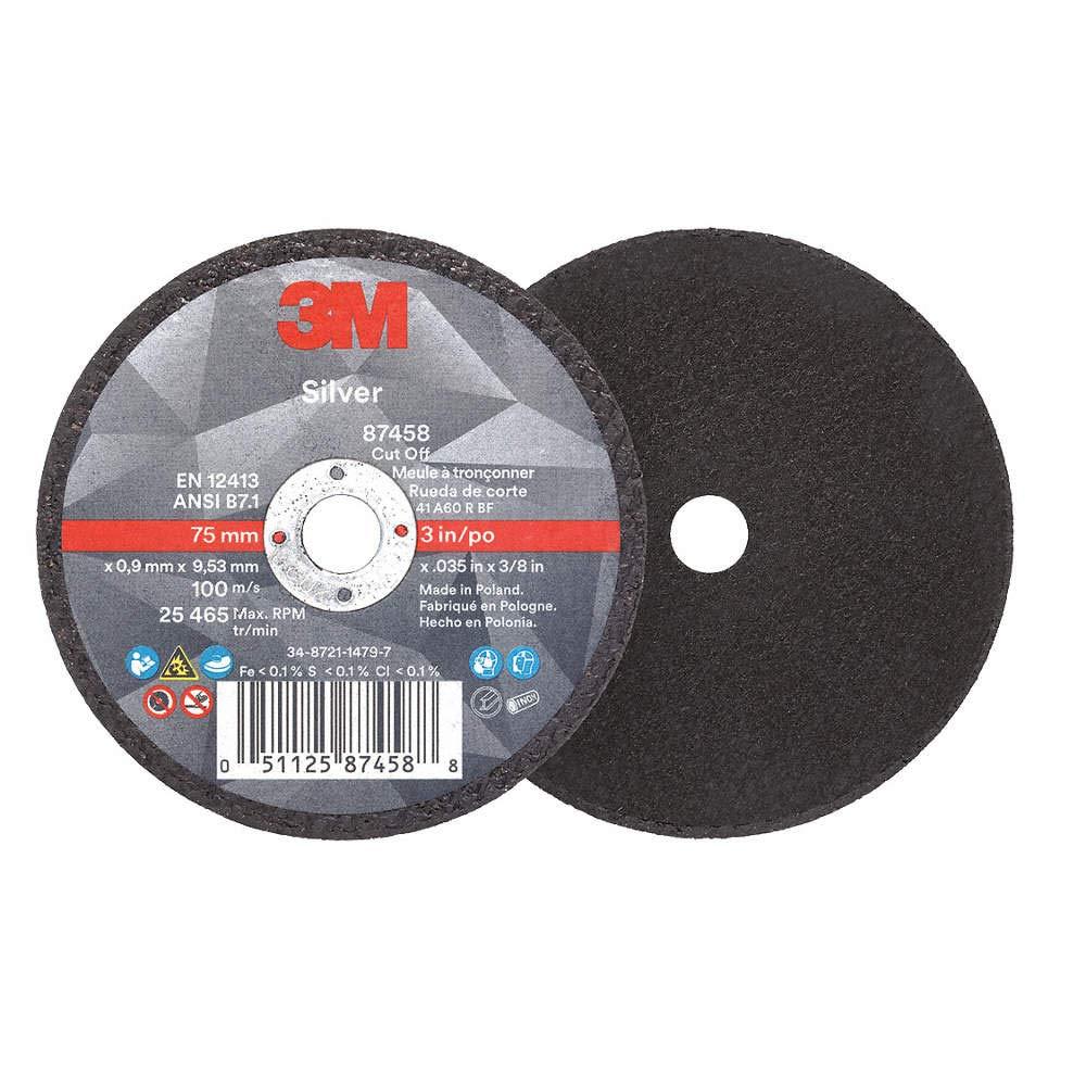 50 -PK 3M 87458 Silver Cut-Off Wheel T1 3 Inch X .035 Inch X 3/8 Inch // 7100139208