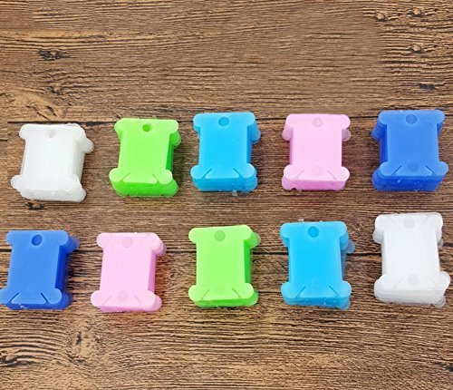 200pcs Plastic Embroidery Floss Craft Thread Bobbins Supplie