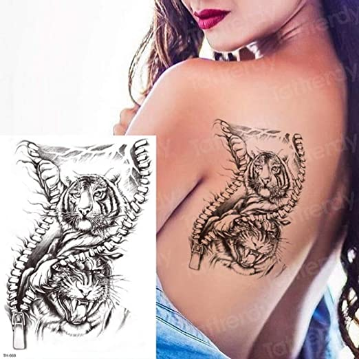 Handaxian 3pcs-Tatuaje Temporal Brazo Tatuaje Diseño del Tatuaje ...