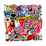 Brand Logo Vinyl Stickers Waterproof for Skateboard Laptop Water Bottle Stickers Motorcycle Bicycle Luggage Computer Helmet Decal Graffiti Patches Stickers for Kids Teens Boys 100PCS Pack
