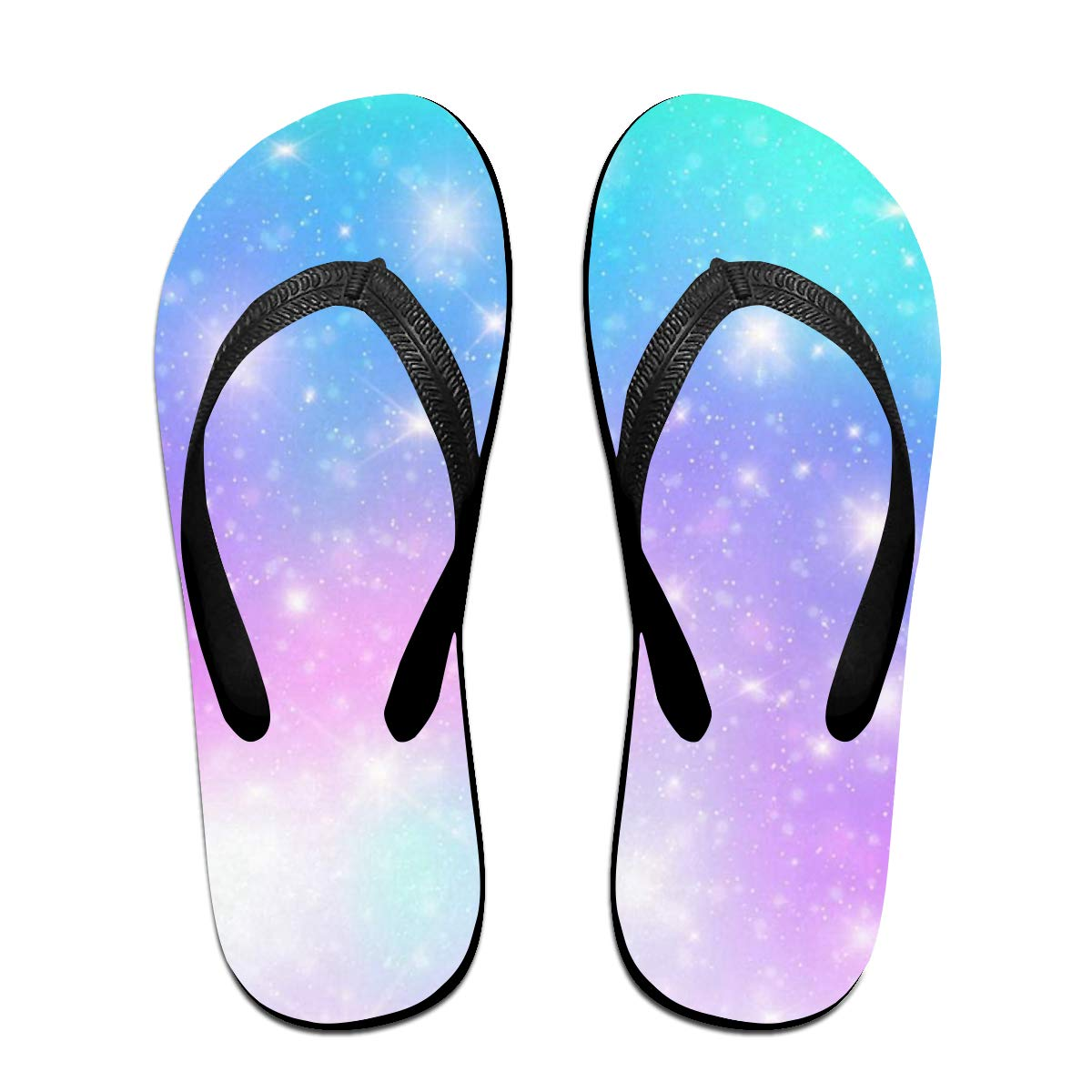 Flip Flops Galaxy Nebula Cloud Colorful Womens Indoor Slippers Top Sandals for Men