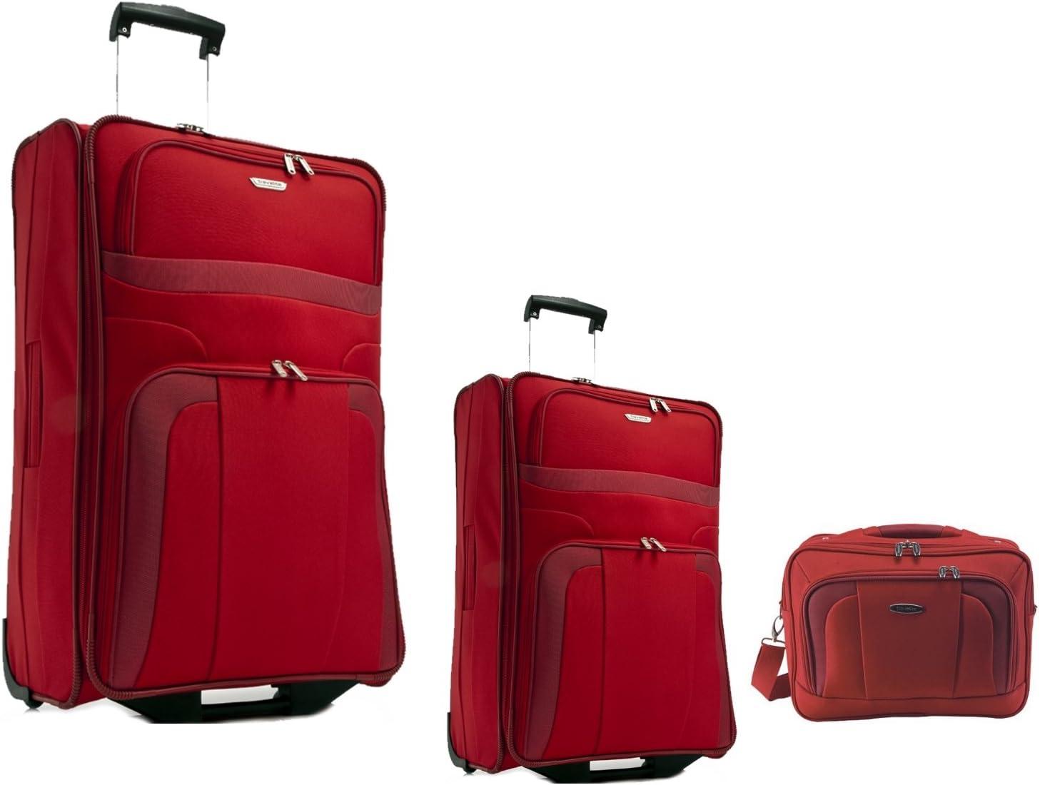 53cm Travelite Koffer Orlando 2-Rad Set 3-teilig: Trolley 63cm Flugbegleiter
