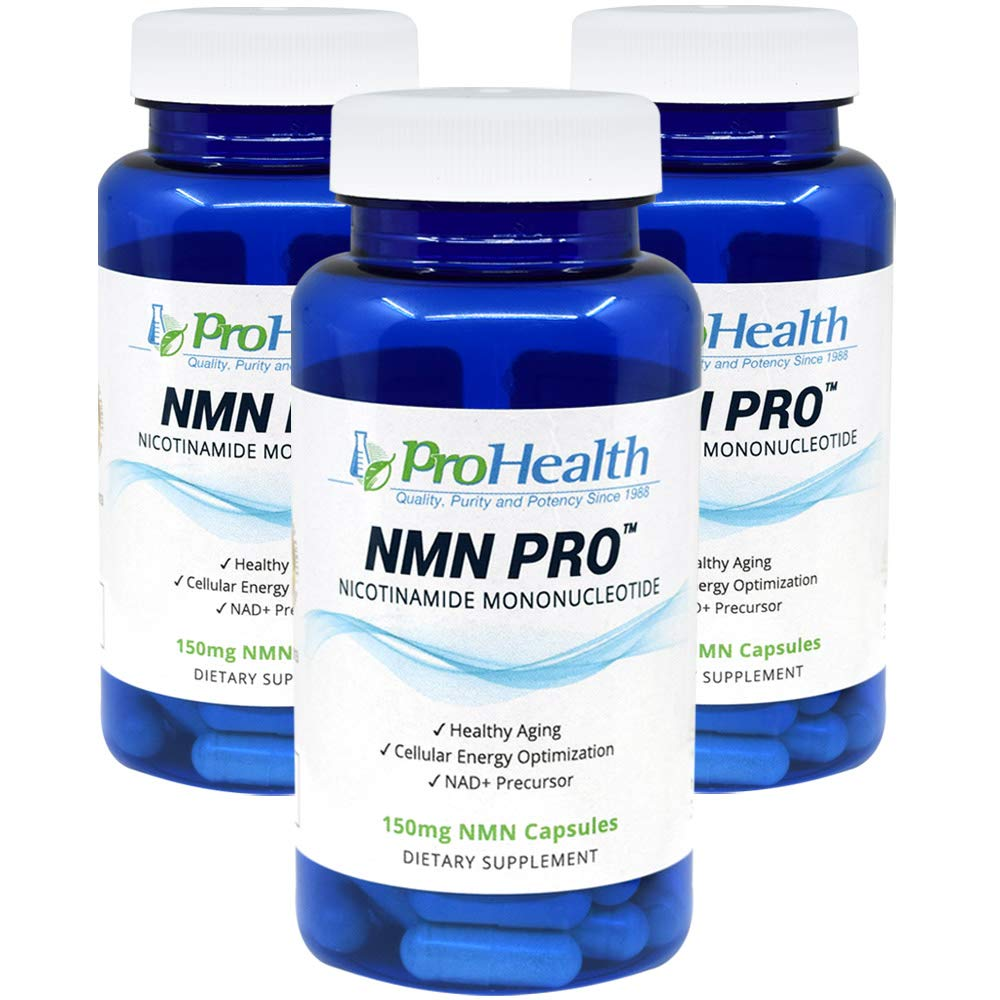 ProHealth NMN Pro 3 -Pack (150 mg, 60 Veggie Capsules) Nicotinamide Mononucleotide | NAD+ Precursor | Supports Anti-Aging, Longevity and Energy | Non-GMO
