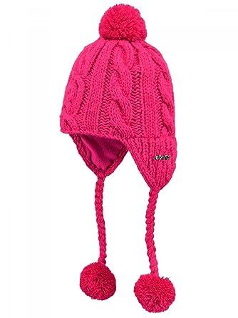 d7dcbcf21233 BARTS - Bonnet en maille péruvien rose framboise bébé fille du 1 au 3 ans  Barts