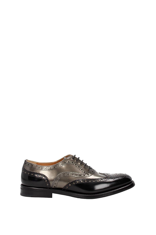 Church's clásico zapatos de cordones mujer en piel nuevo brogue bicolor negro 37.5 EU|negro