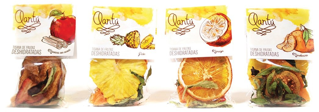 DRIED & HERB INFUSION FRUITS ASSORTMENT (6 TEA BAGS) by QANTU (Image #2)