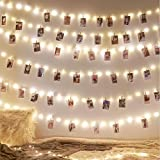 66ft 200 LEDs Fairy Lights, Waterproof String Lights Warm White USB Powered Copper Wire Silver Coated String Lights for…