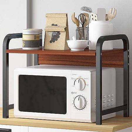 Wmeat-S Estantería de Cocina, Soporte para Microondas, para Mini Horno, Especias, Multi-función Utensilios de Cocina (Size : H): Amazon.es: Hogar