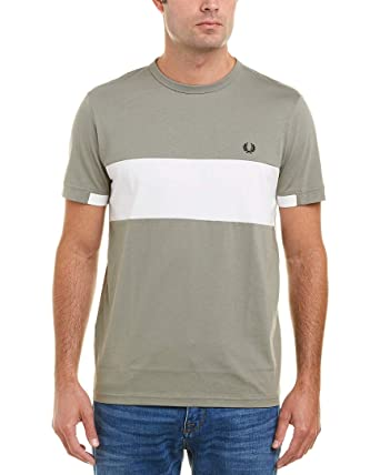 01c6b4860d Amazon.com  Fred Perry Mens Chest Panel T-Shirt  Clothing
