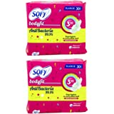 Sofy Bodyfit Anti Bacteria Sanitary Pads - 30 Count Pack Of 2