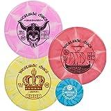 Westside Discs Origio Burst Disc Golf Starter Set| Frisbee Golf Set | King Distance Driver | Queen Distance Driver…