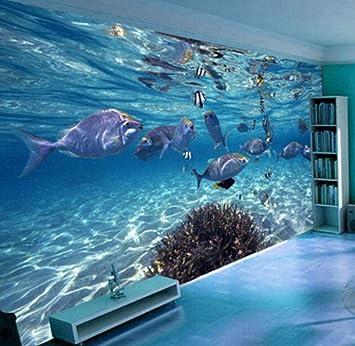 Under The Sea  Wall Mural Ocean Scene Photo Wallpaper Kids Bedroom Home Decor
