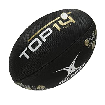 4979a20c188c0 GILBERT rugby Top 14-Ballon de rugby de plage Noir: Amazon.fr ...