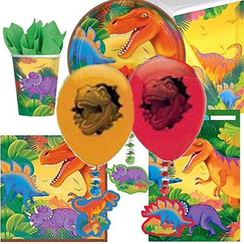Dinosaur Ultimate Party Supplies Kit for 8 by Party Bags 2 Go