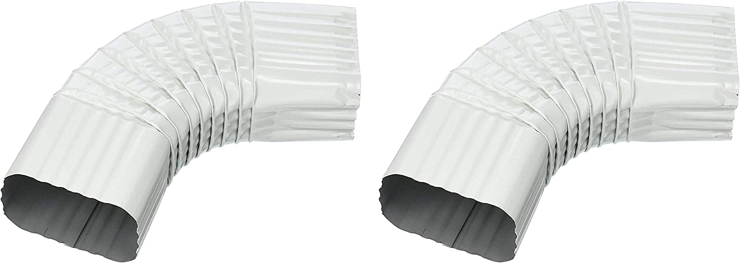 AMERIMAX HOME PRODUCTS 33065 2x3 Galvanized B Elbow White Five Pack