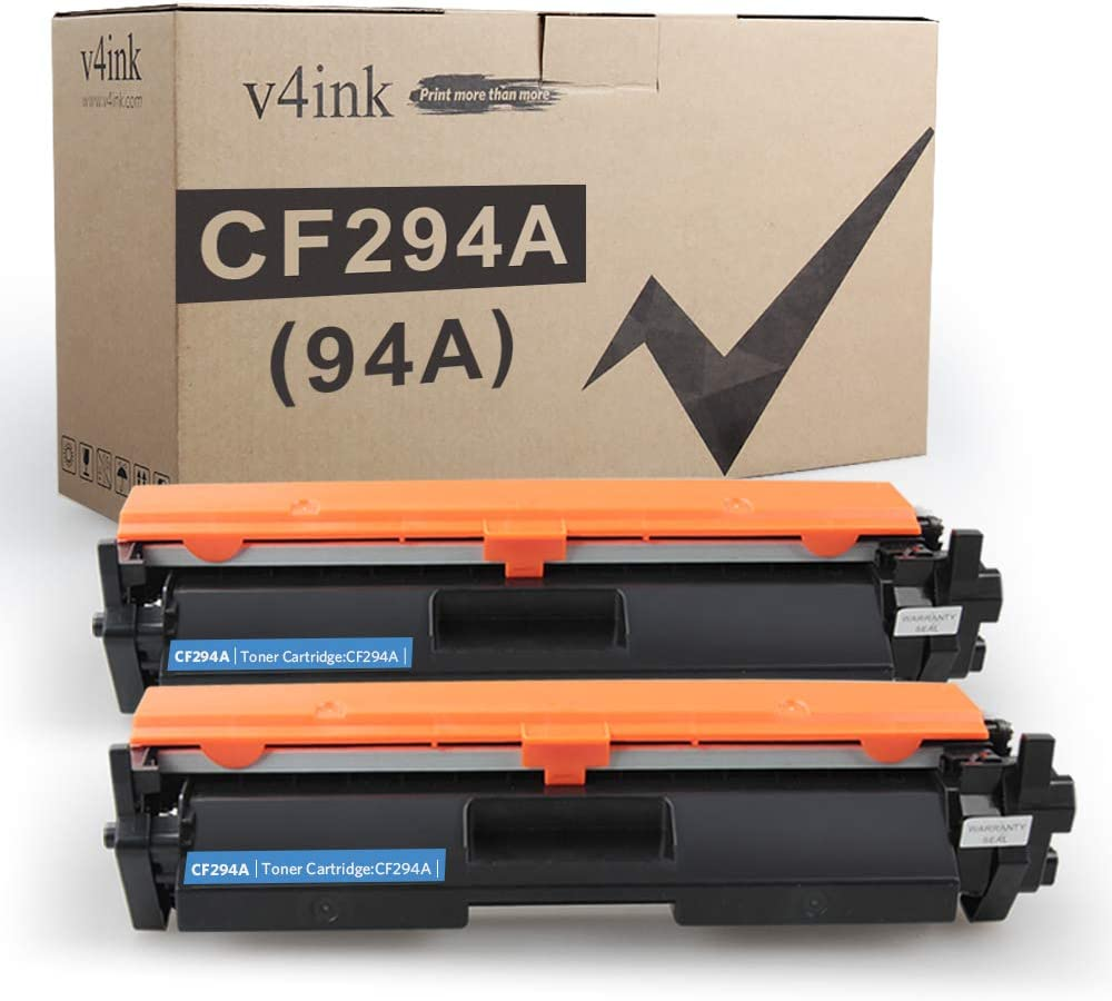 V4INK 2PK Compatible Toner Cartridge Replacement for HP CF294A 94A 94X Toner Black Ink for HP Laserjet Pro M118dw Pro MFP M148dw M148fdw M149fdw M118 M148 Printer