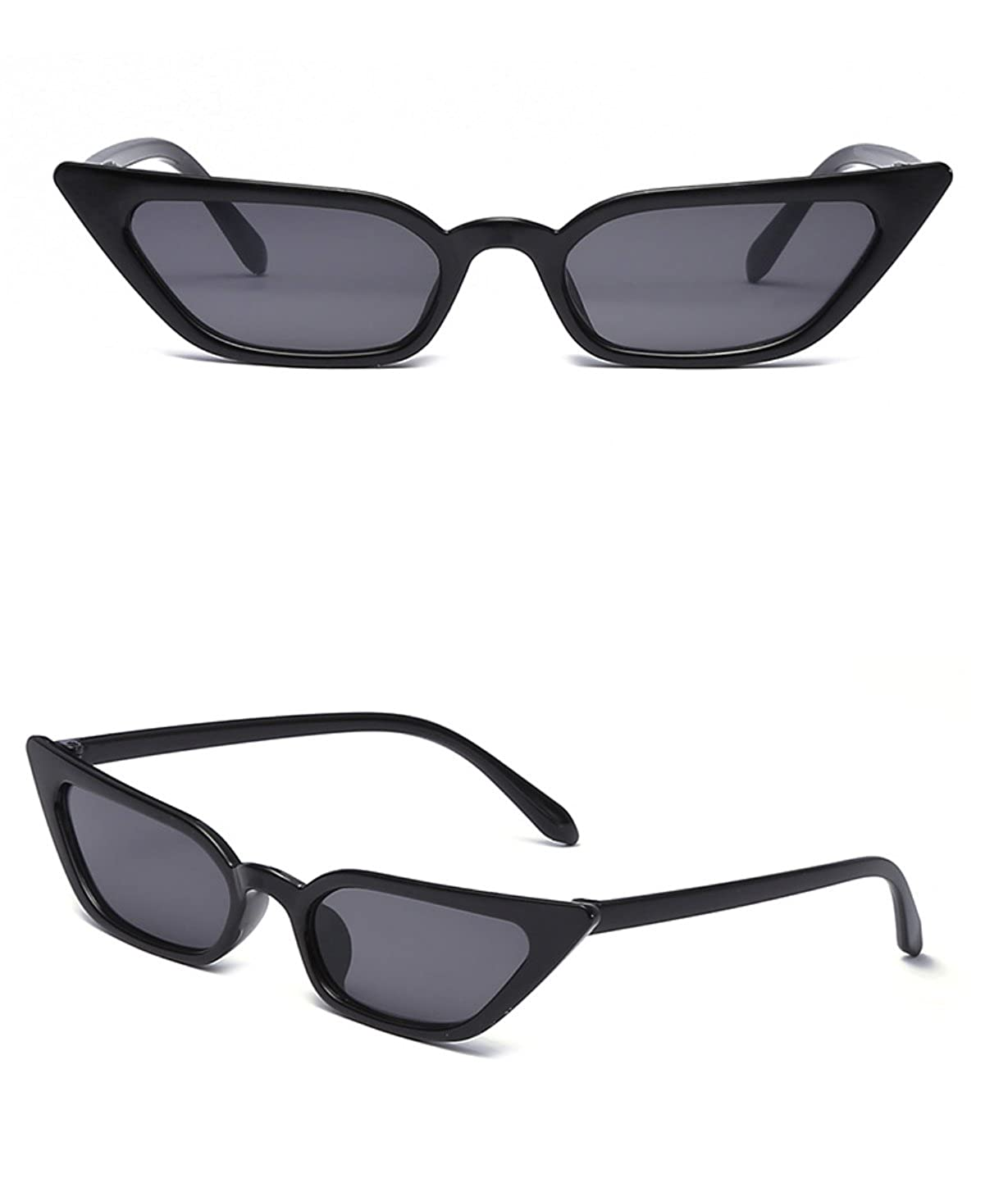 3eab66cf352f Amazon.com: Small Frame Skinny Cat Eye Sunglasses for Women Colorful Mini  Narrow Square Retro Cateye Vintage Sunglasses by W&Y YING: Shoes