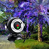 Christmas Projector Light Star Night Shower Lawn Light Outdoor& Indoor Waterproof Angel Eyes Lawn Light Projector with Remote Control for Decoration and Entertainment