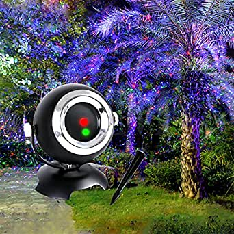 Christmas Projector Light Star Night Shower Lawn Light Outdoor& Indoor Waterproof Angel Eyes Lwan Light Projector with Remote Control for Decoration and Entertainment
