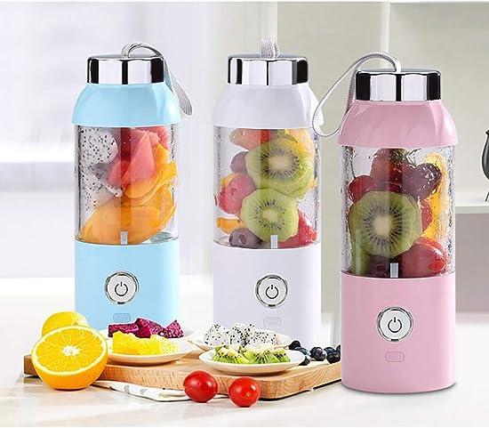 Dozenla Portable Juice Blender with USB Rechargeable Battery Outdoor Travel Water Bottle Fruit Juicer Bottle Sports Health Gift