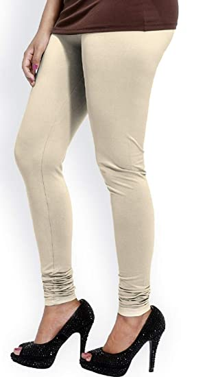 60f6f2910e32c Bharat Creation women's legging in Off white color: Amazon.in: Clothing &  Accessories