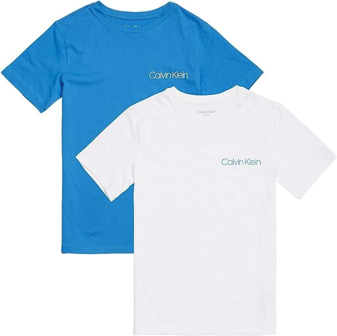 Calvin Klein Boys 2-Pack Clásico Logotipo Camiseta De Cuello ...