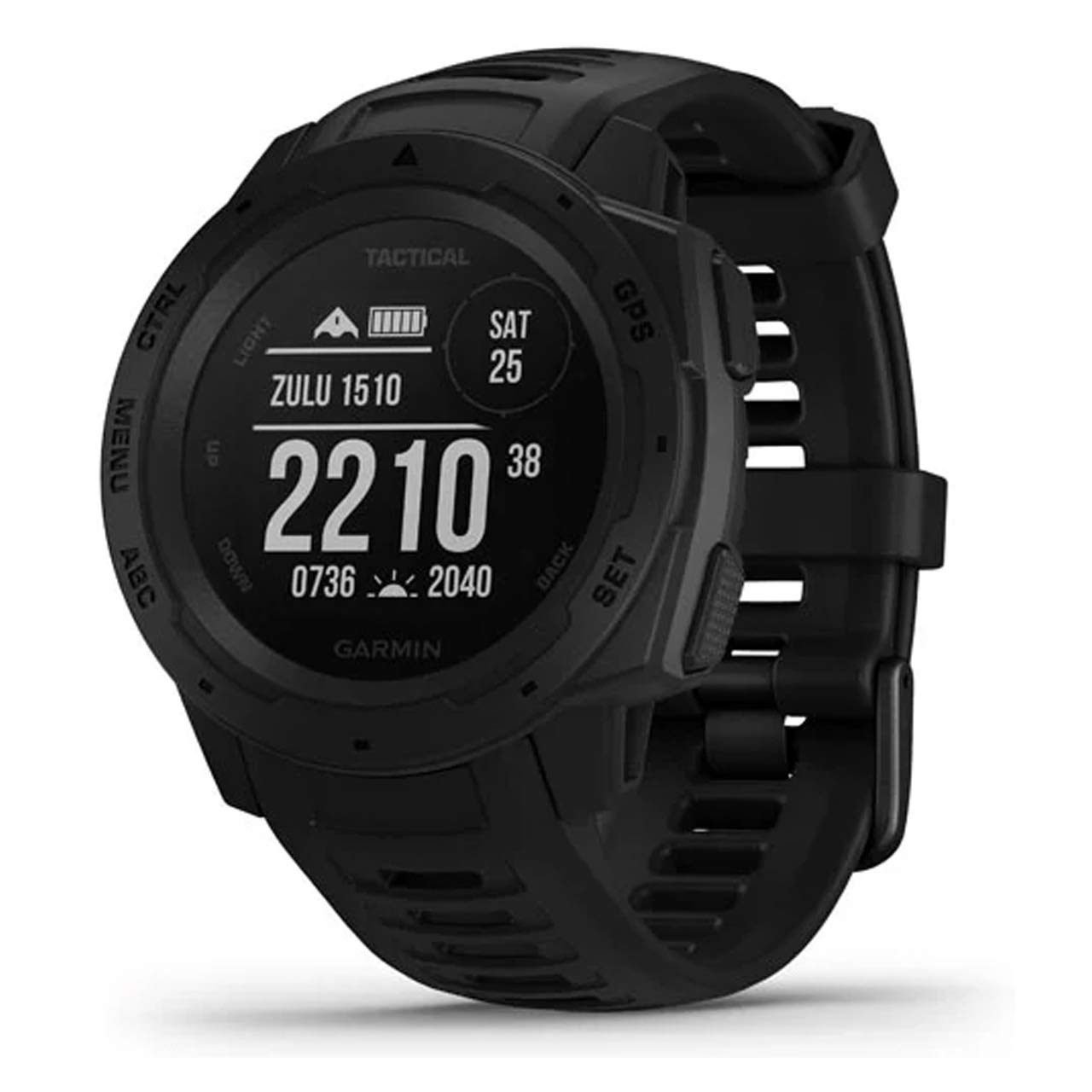 Garmin Instinct Tactical, Rugged GPS Watch, Tactical Specific Features, Constructed to U.S. Military Standard 810G for Thermal, Shock and Water Resistance, Black by Garmin