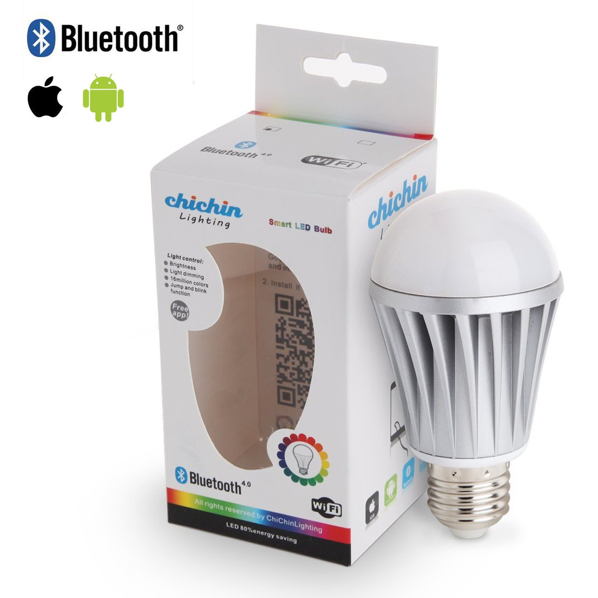 iphone controlled lighting. ChiChinLighting® E26 7w Bluetooth LED Bulb E27 Light RGB Dimmable Smart Controlled By IOS Apple Iphone Ipad Android Samsung HTC Lighting E